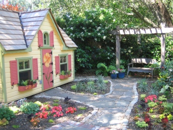 custom painted play house
