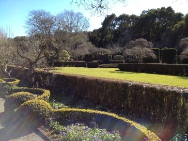 Formal edges around the fountain garden.