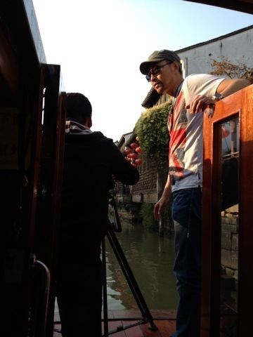Using the canal boats for dynamic shots.