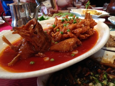 Taihu fish in sweet and sour Mandarin sauce.