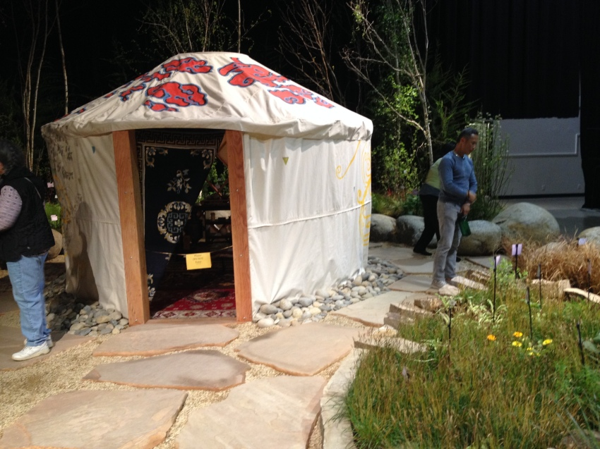 A yurt in a traditional Chinese medicinal show garden.